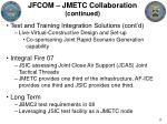 jfcom jmetc collaboration continued