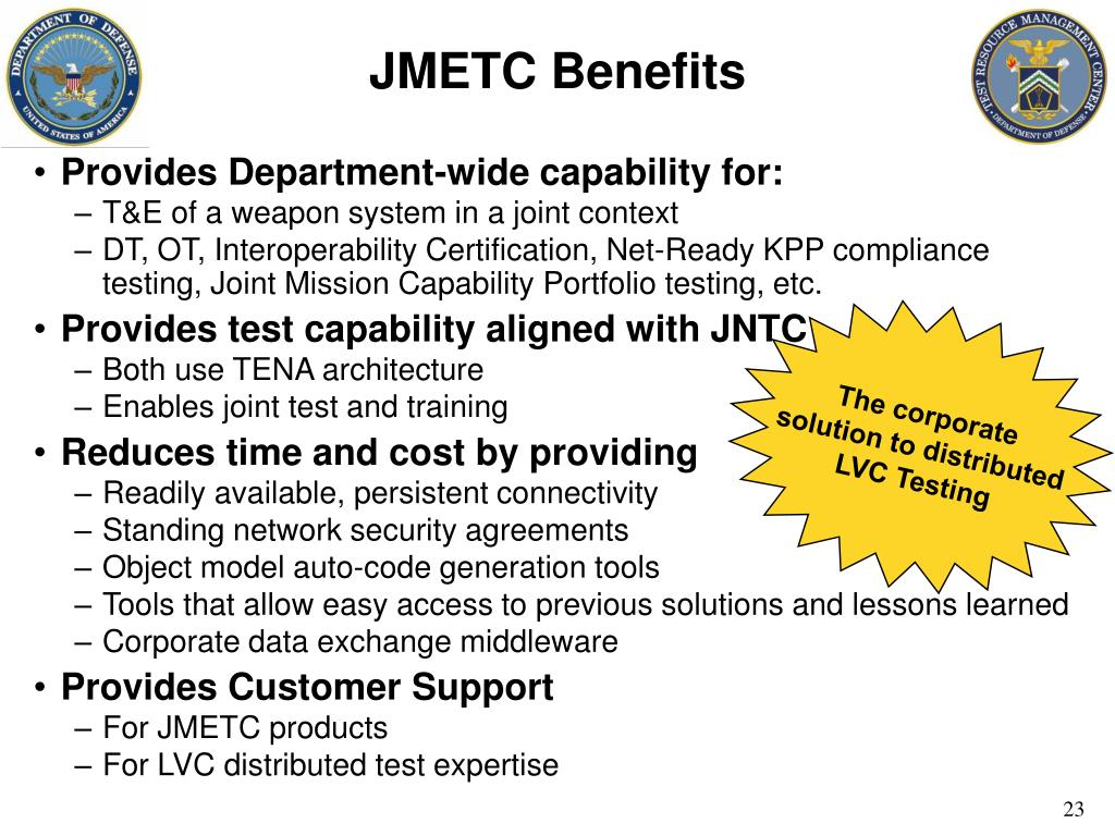JMETC Benefits