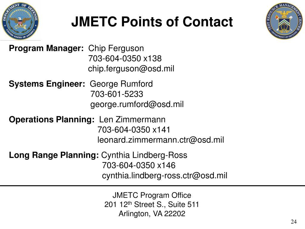 JMETC Points of Contact