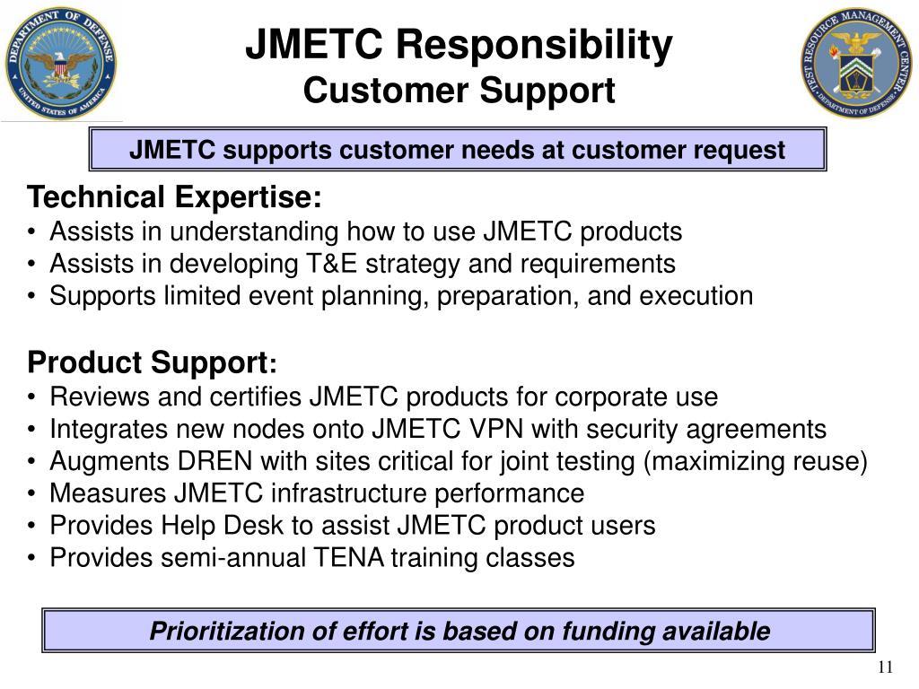 JMETC Responsibility