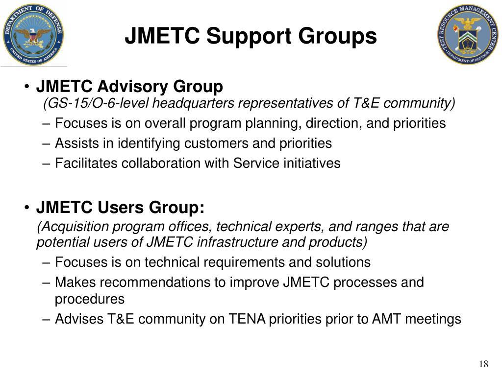 JMETC Support Groups