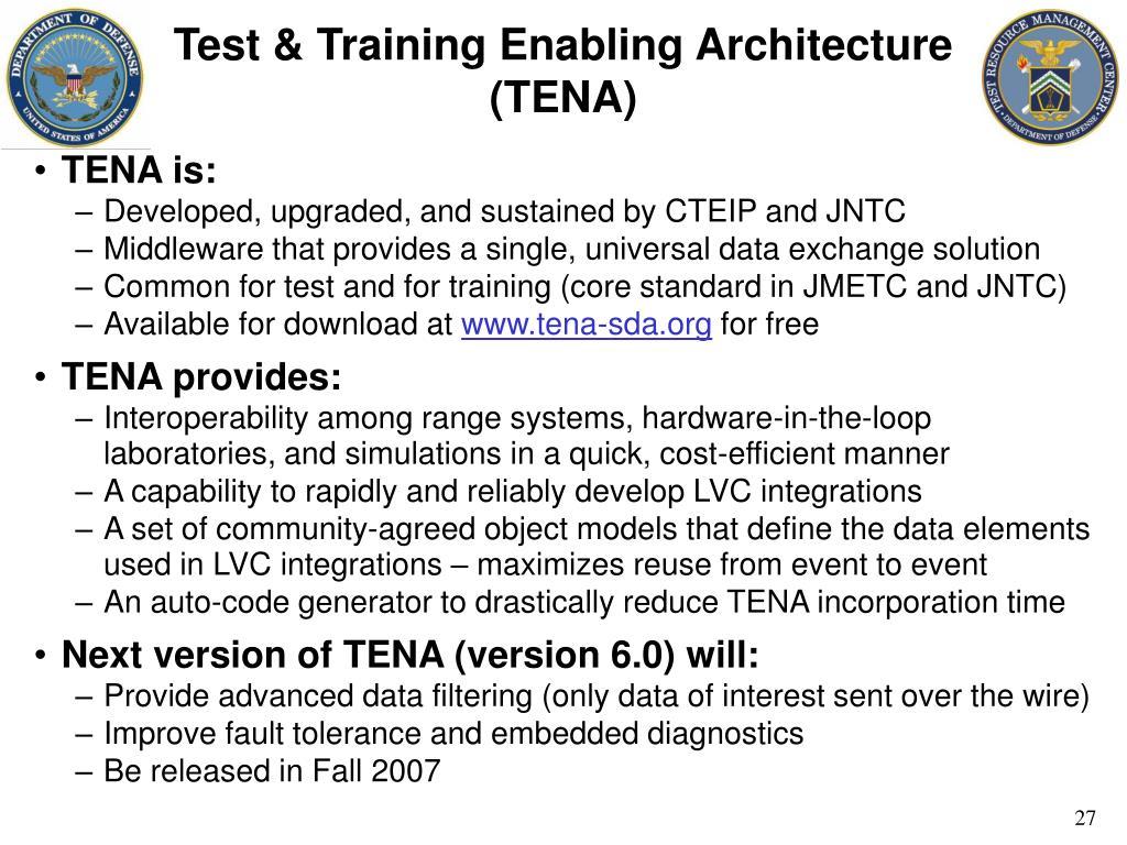 Test & Training Enabling Architecture