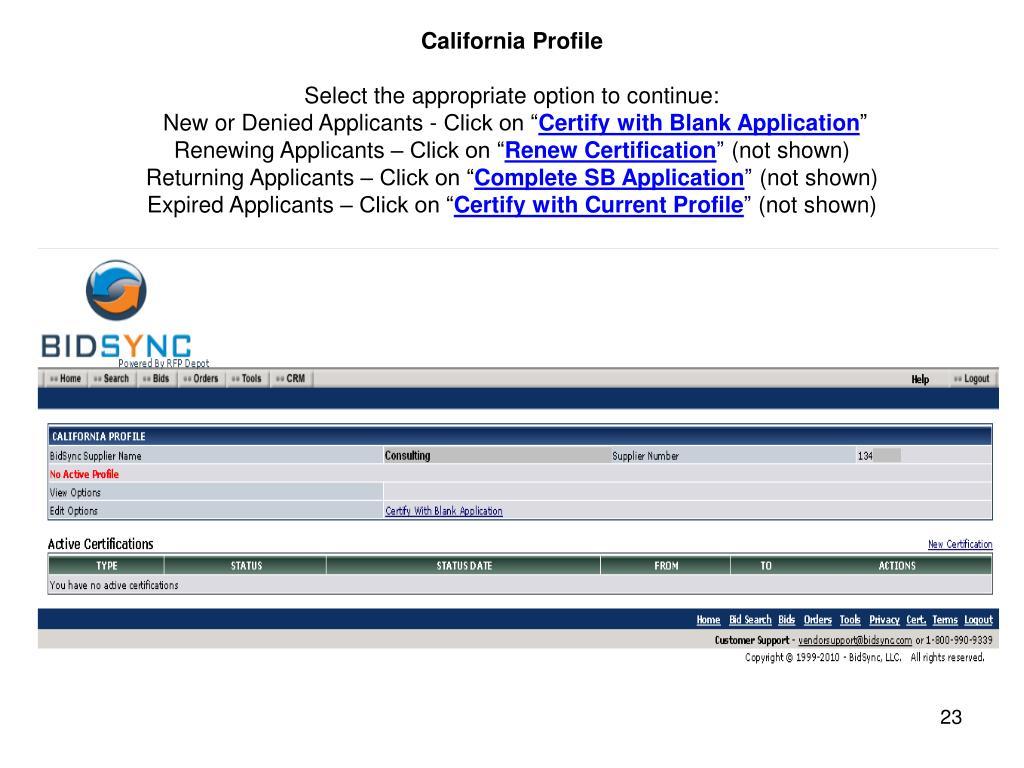 California Profile