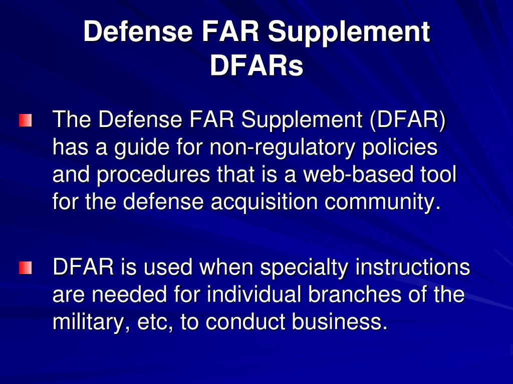 Defense FAR Supplement