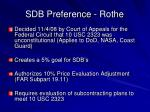 sdb preference rothe