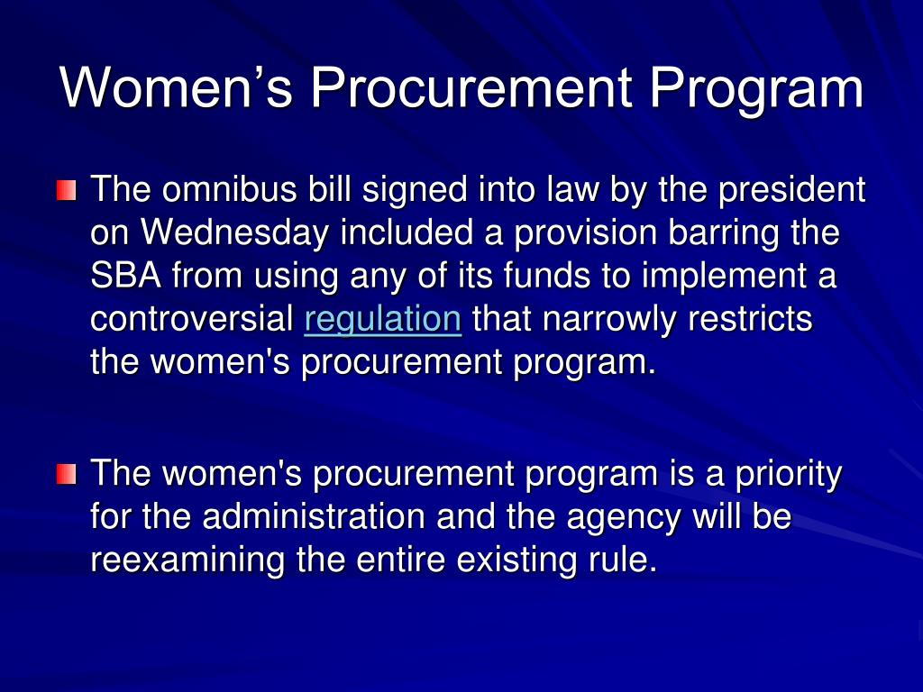 Women's Procurement Program