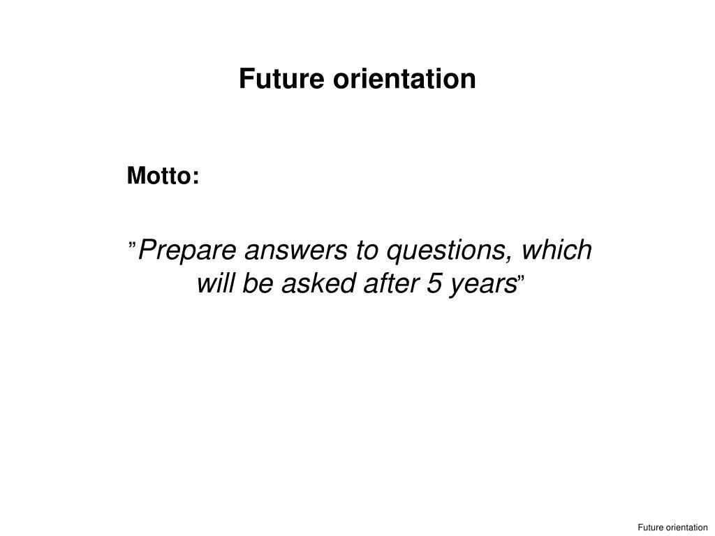 Future orientation