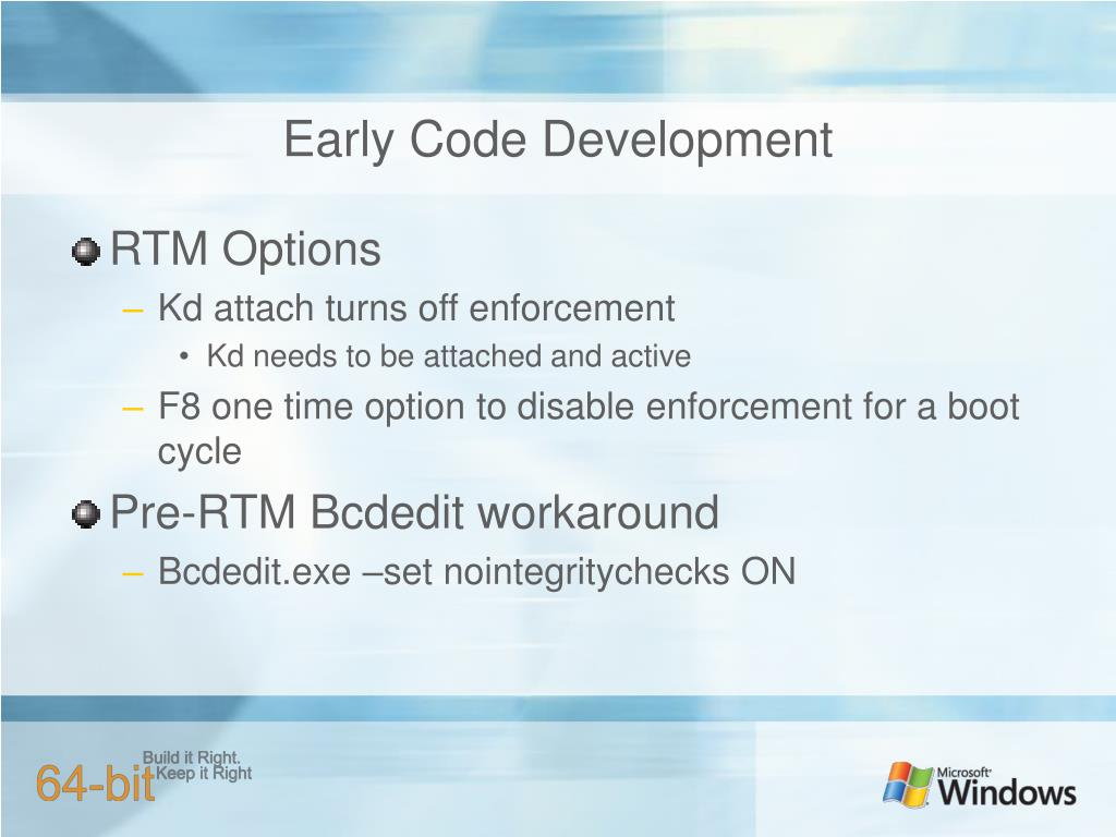Early Code Development