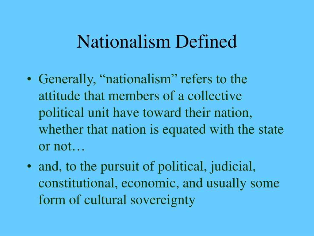 Nationalism Defined