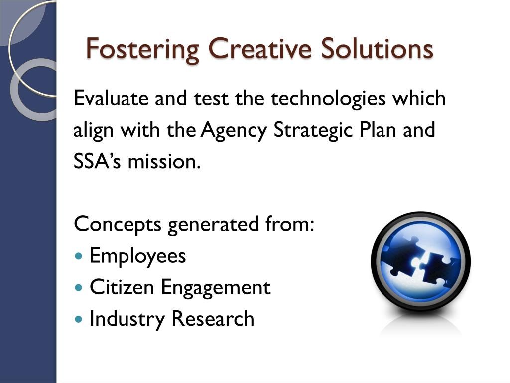 Fostering Creative Solutions