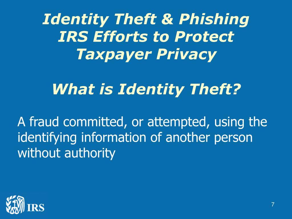 Identity Theft & Phishing