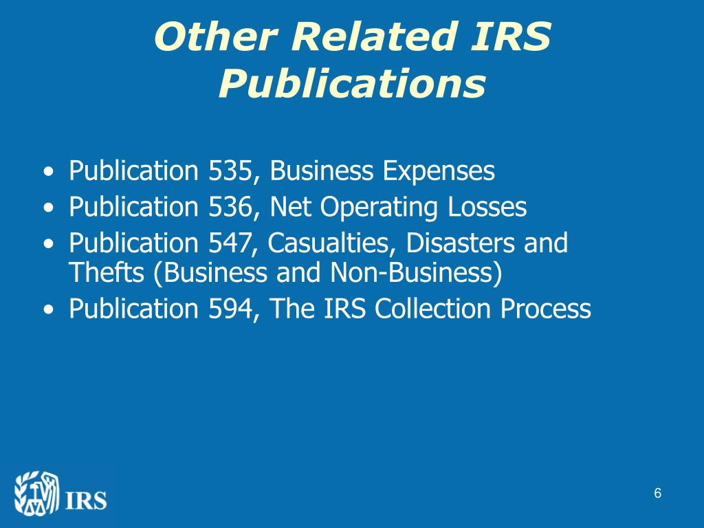 Other Related IRS Publications
