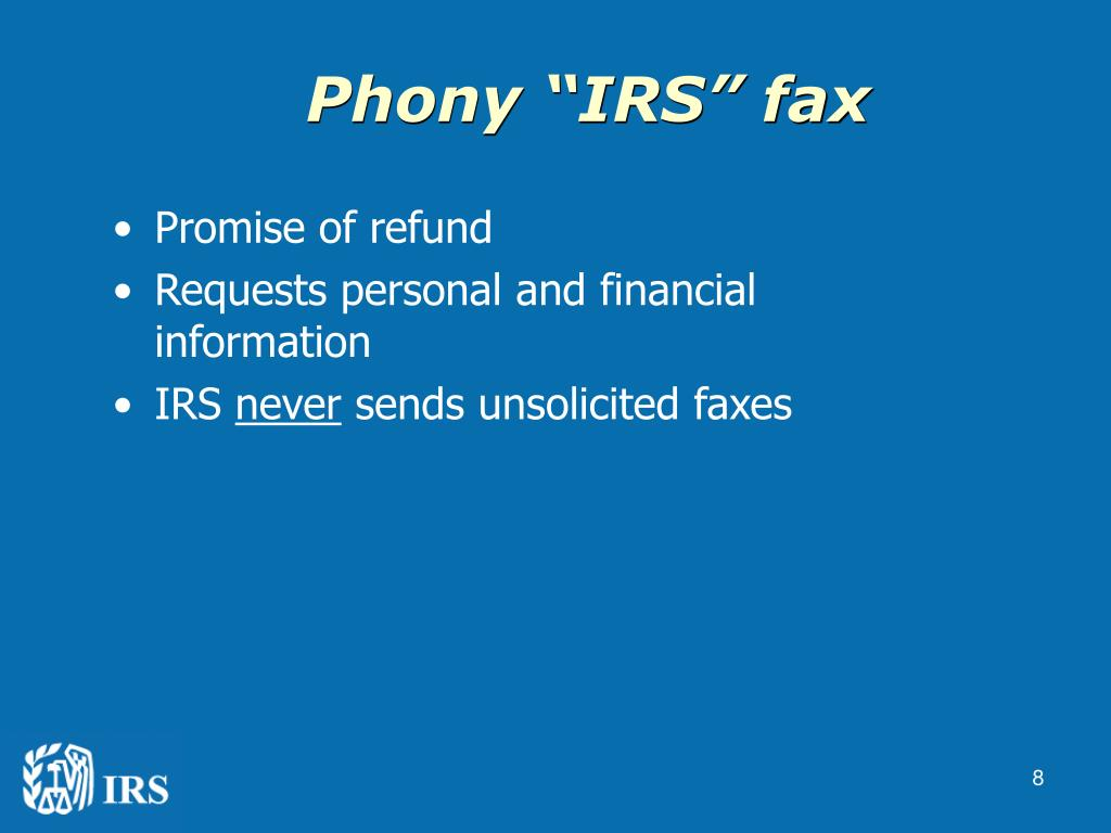 "Phony ""IRS"" fax"