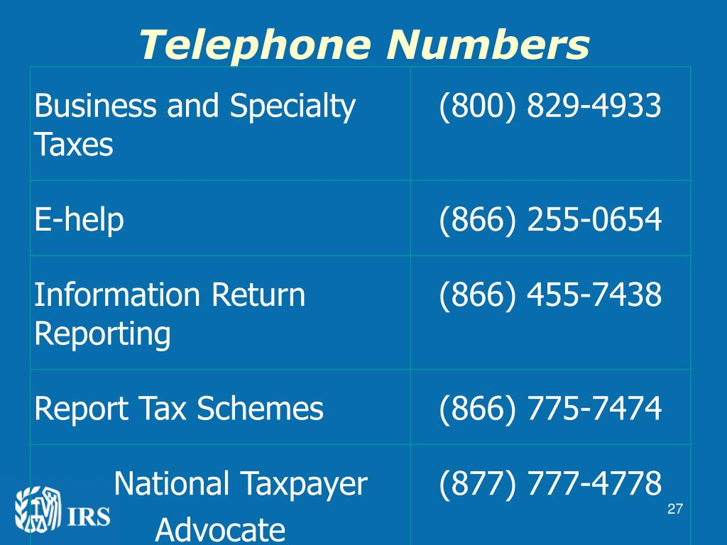 Telephone Numbers