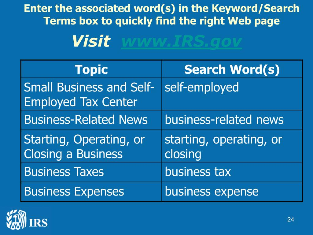 Enter the associated word(s) in the Keyword/Search Terms box to quickly find the right Web page