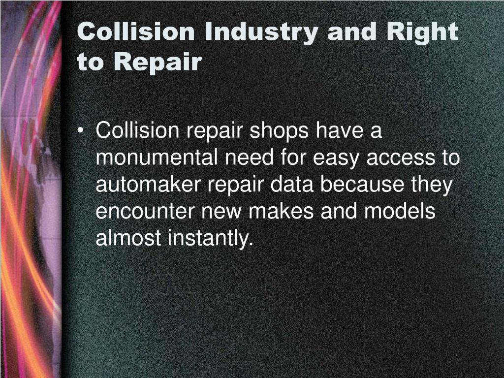 Collision Industry and Right to Repair