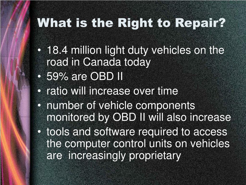 What is the Right to Repair?
