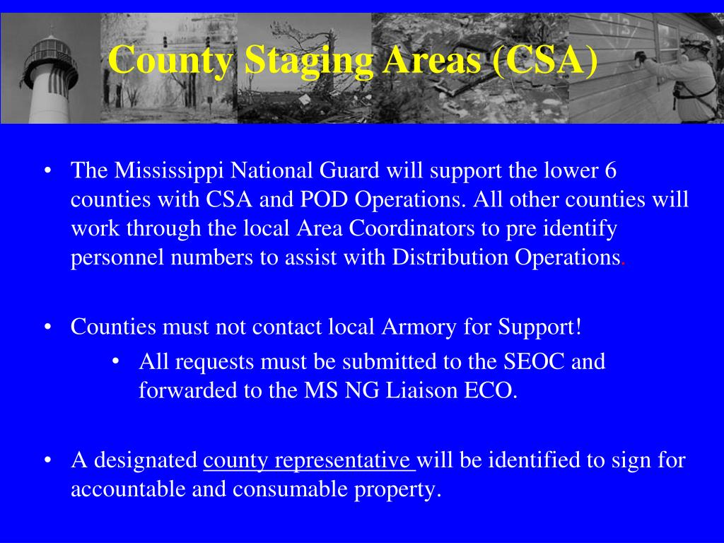 County Staging Areas (CSA)