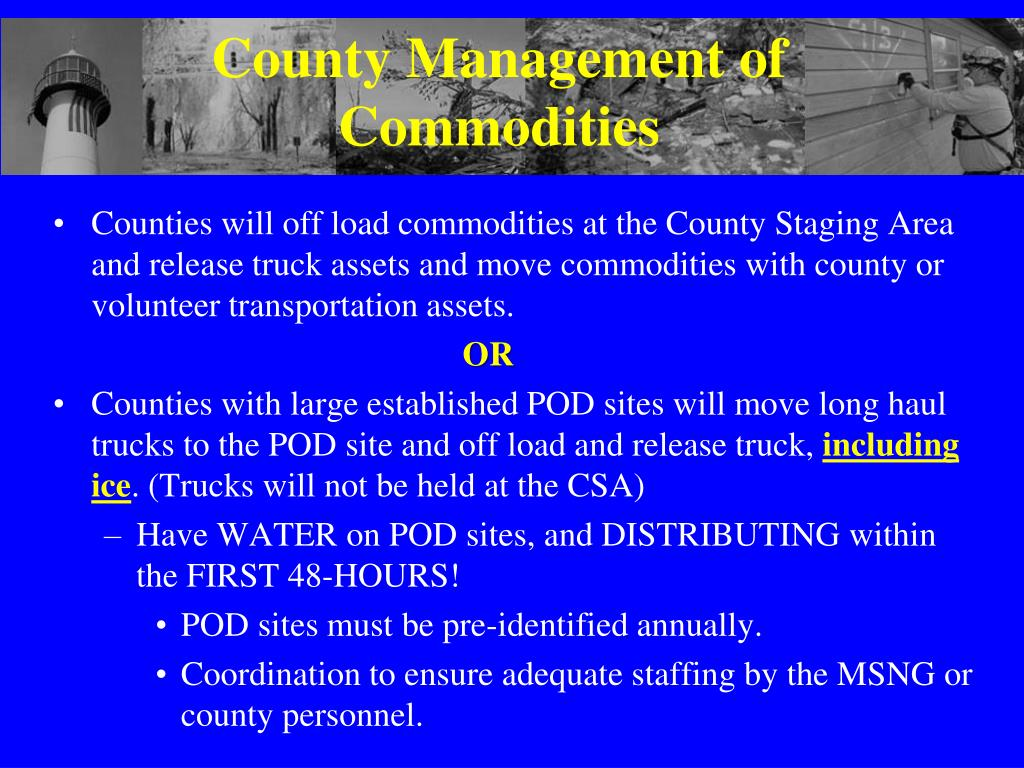 County Management of Commodities