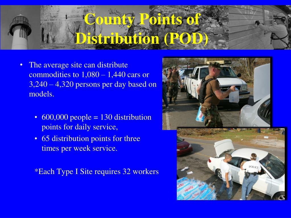 County Points of Distribution (POD)