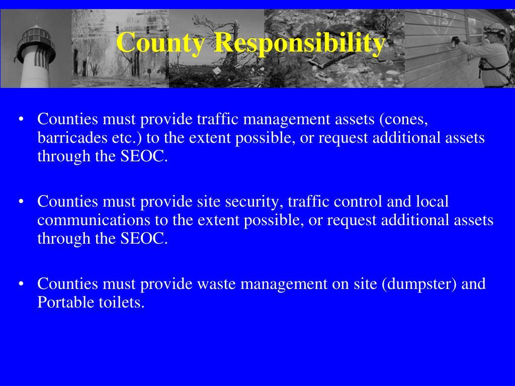 County Responsibility