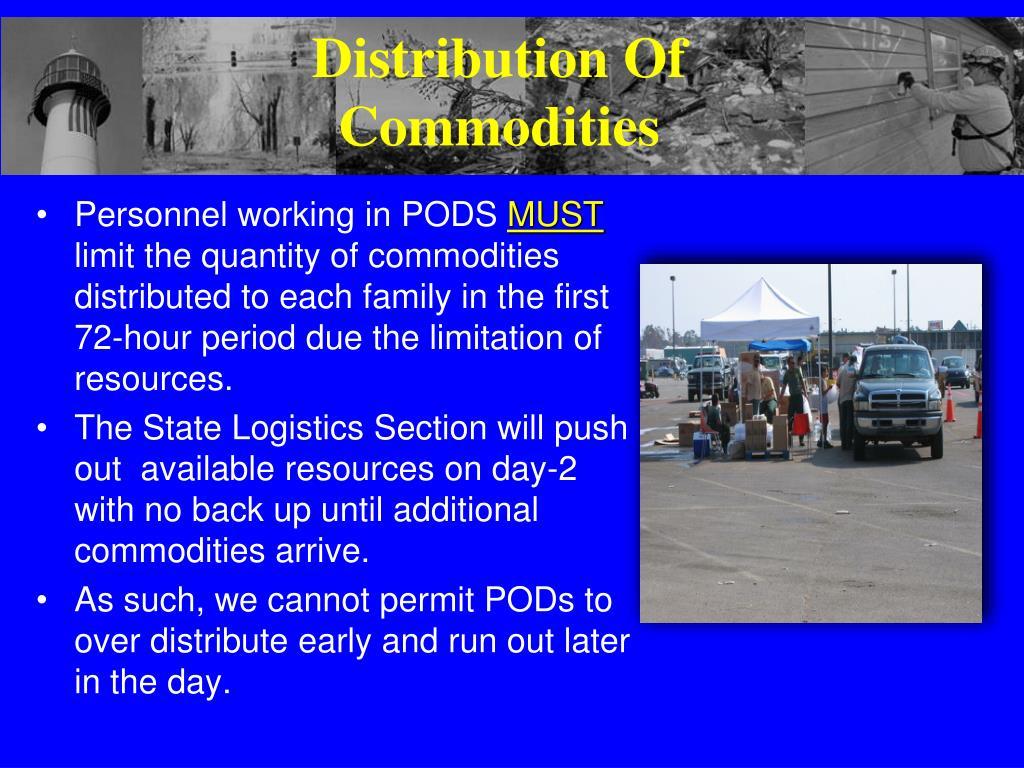 Distribution Of Commodities