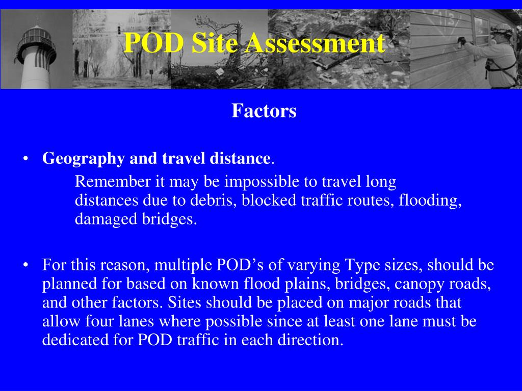 POD Site Assessment