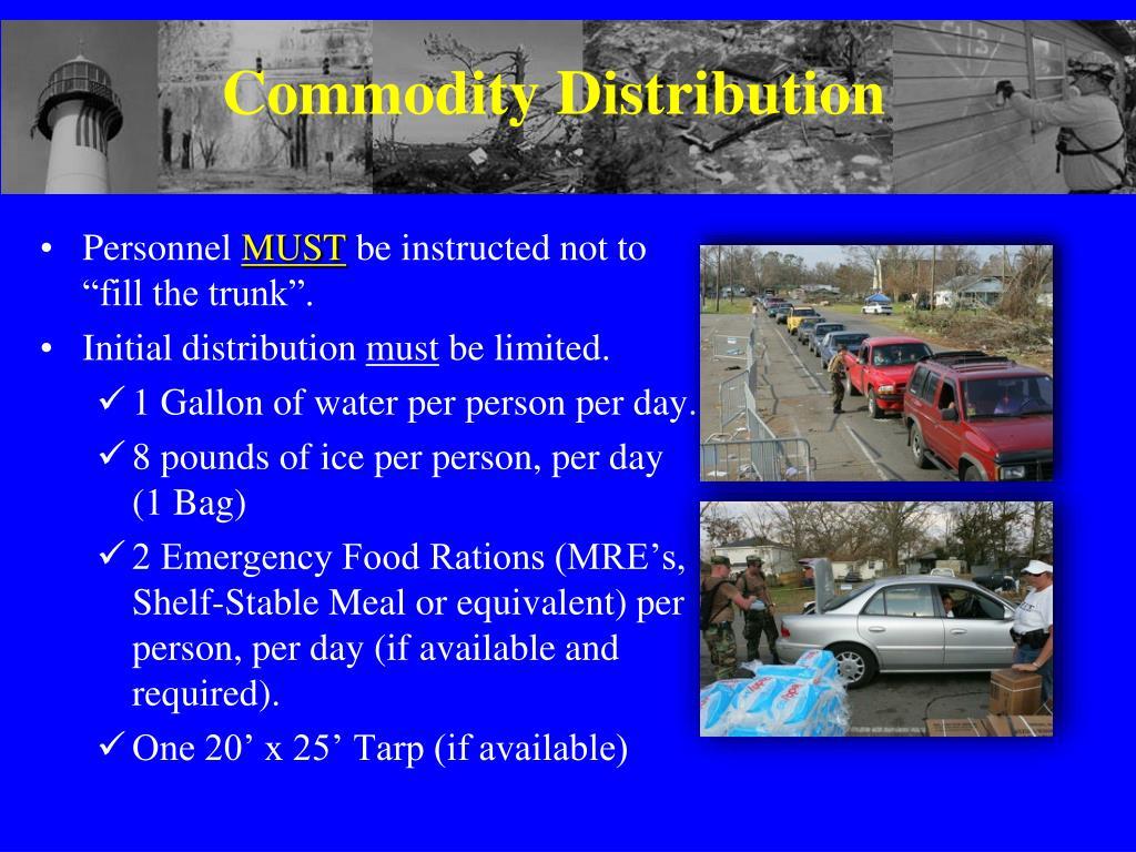 Commodity Distribution