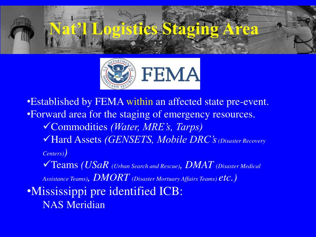 Nat'l Logistics Staging Area