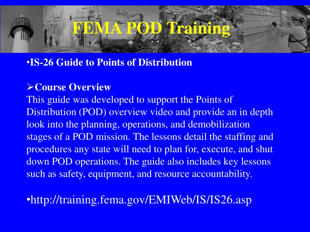FEMA POD Training