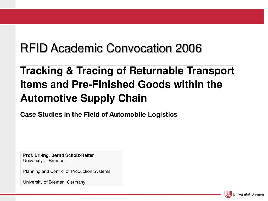 RFID Academic Convocation 2006