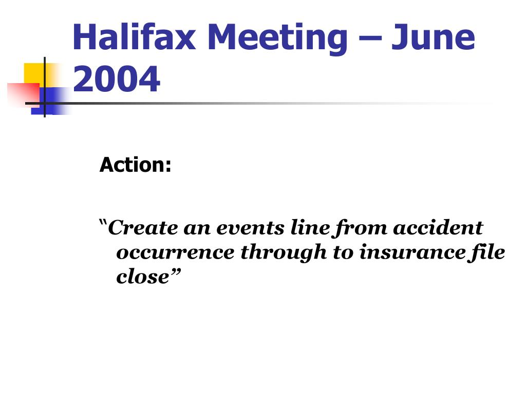 Halifax Meeting – June 2004