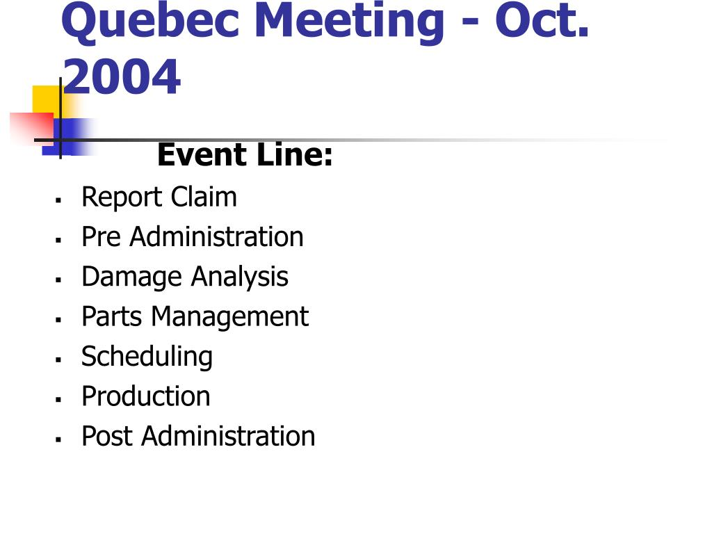 Quebec Meeting - Oct. 2004