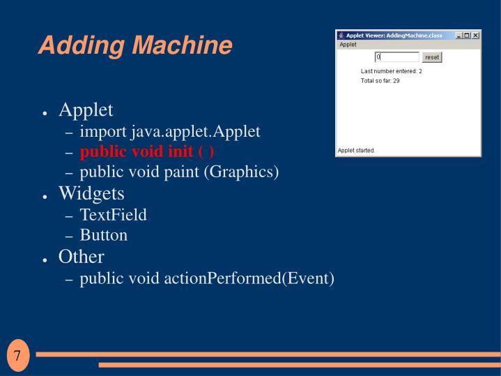 Adding Machine