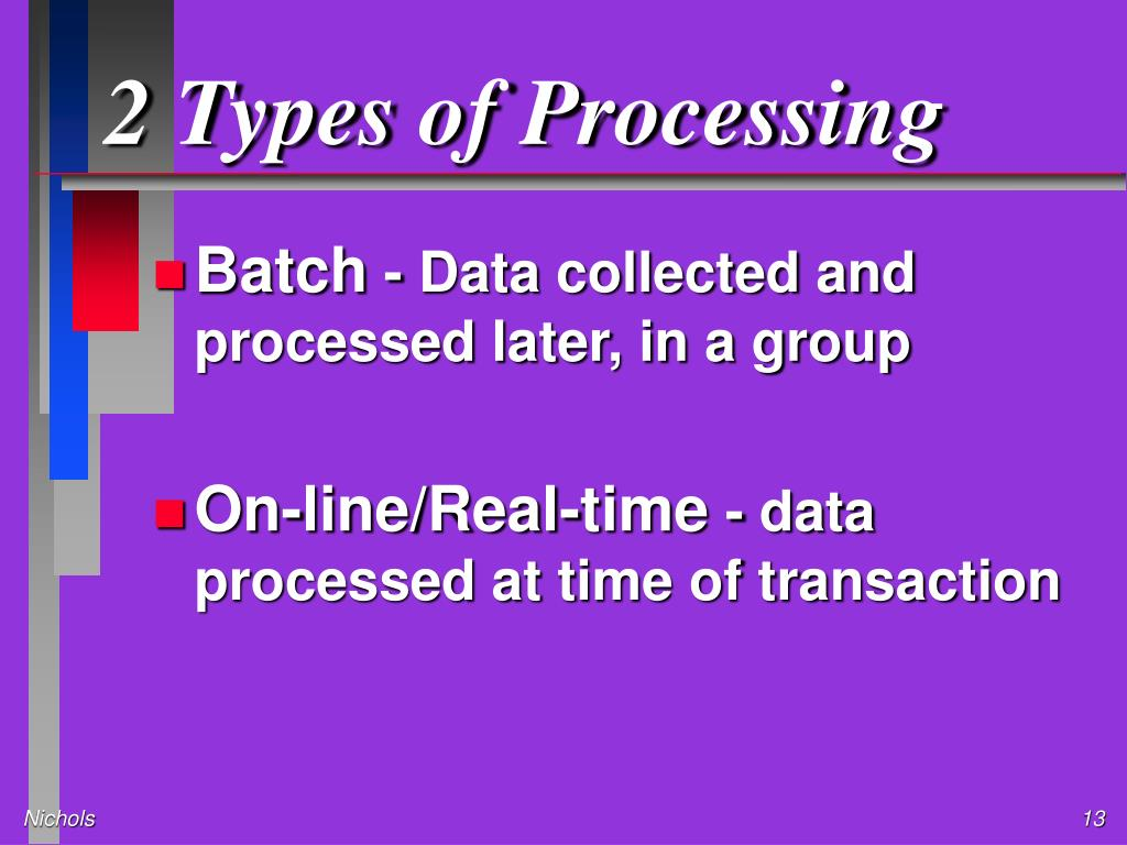 2 Types of Processing