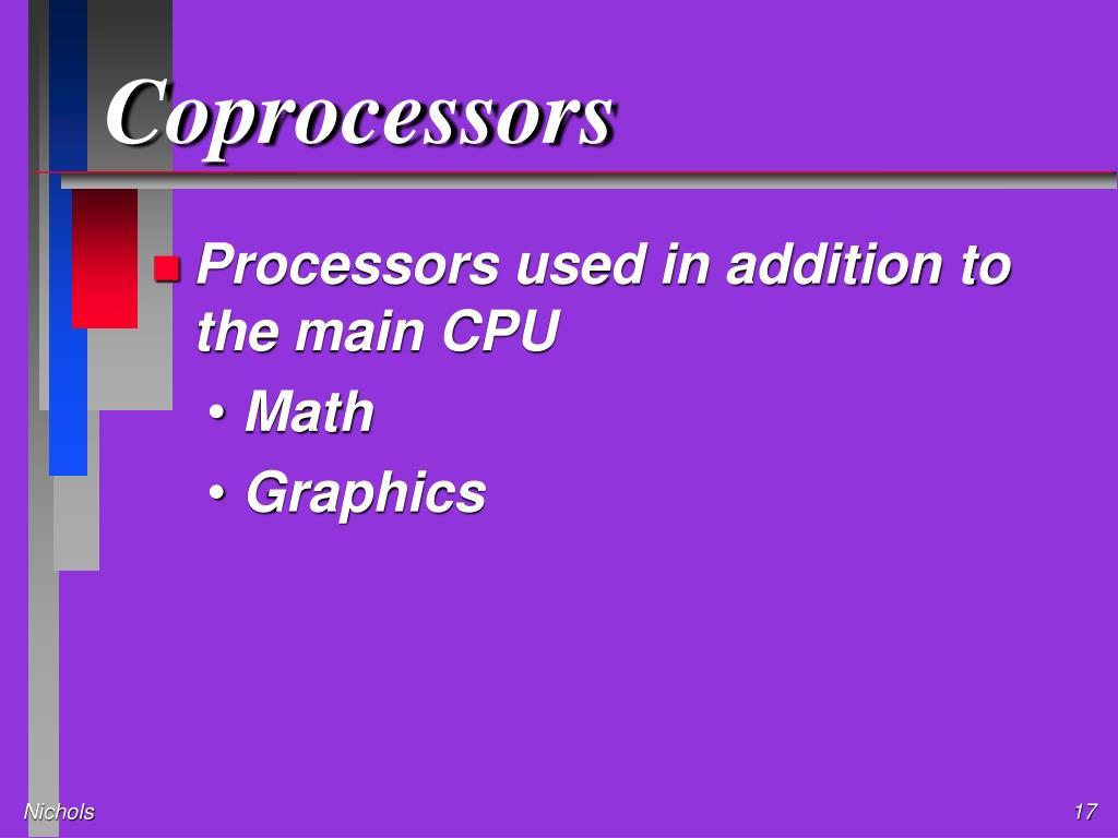 Coprocessors