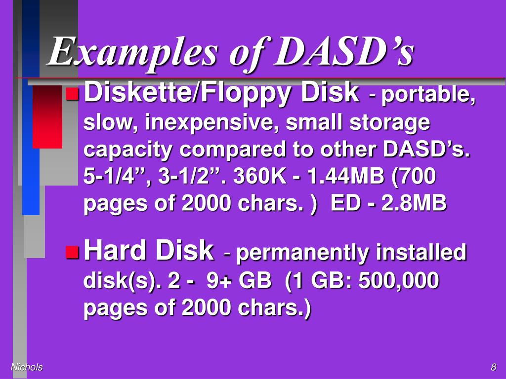 Examples of DASD's