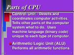 parts of cpu