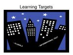 learning targets22
