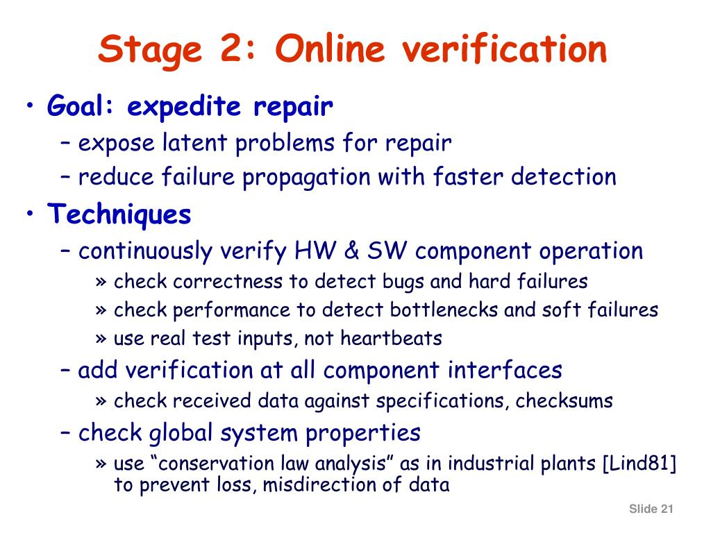 Stage 2: Online verification