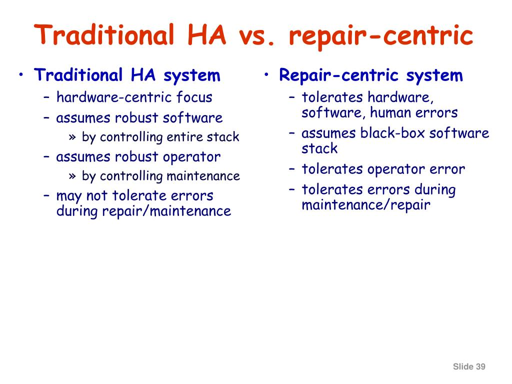 Traditional HA system