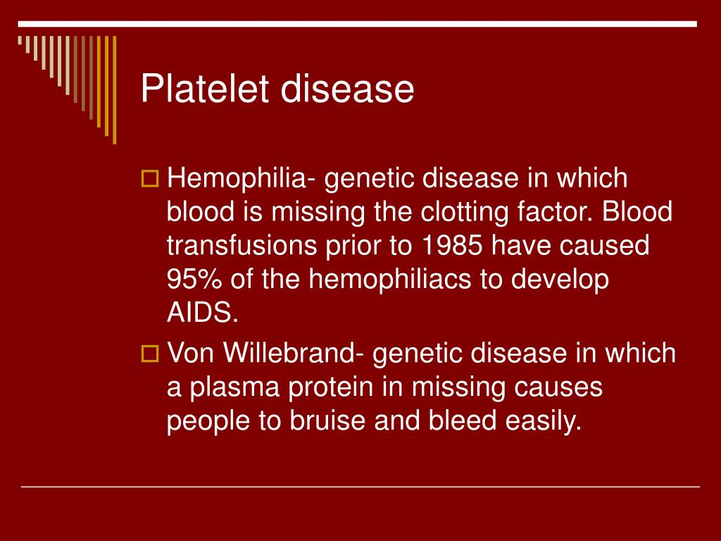 Platelet disease