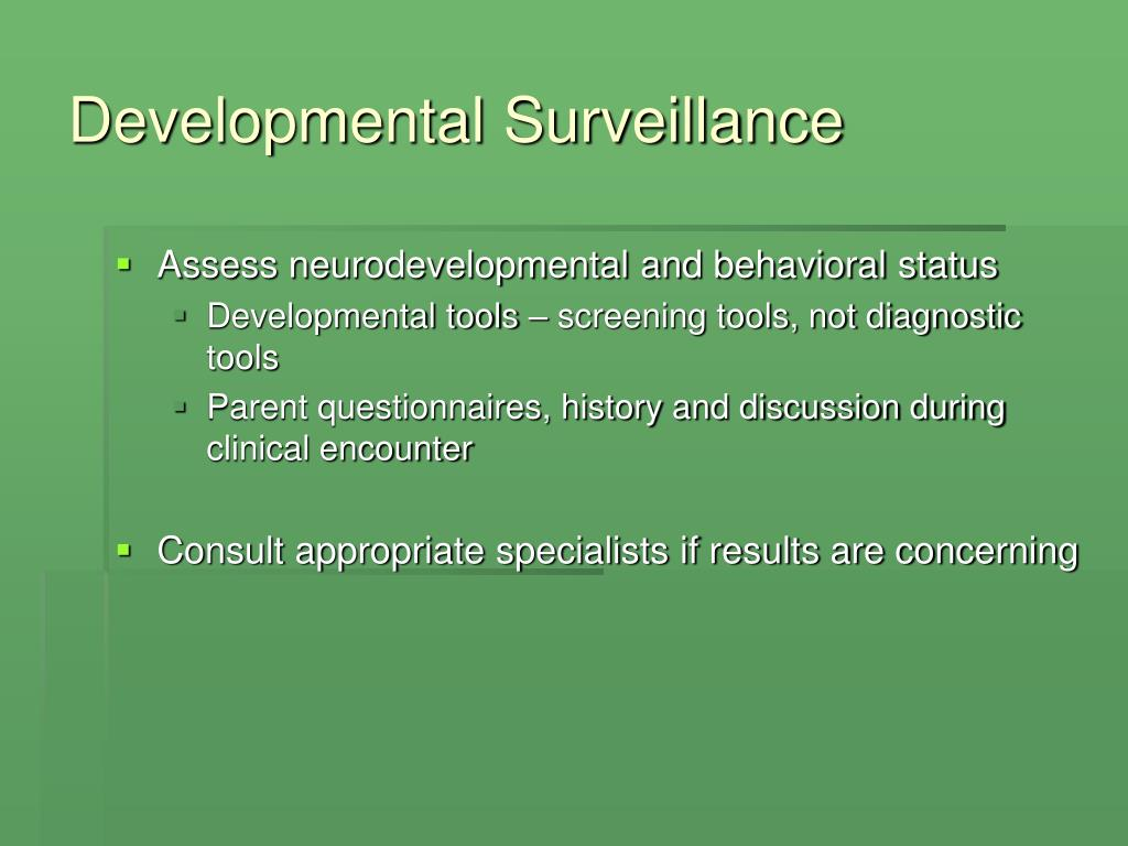 Developmental Surveillance