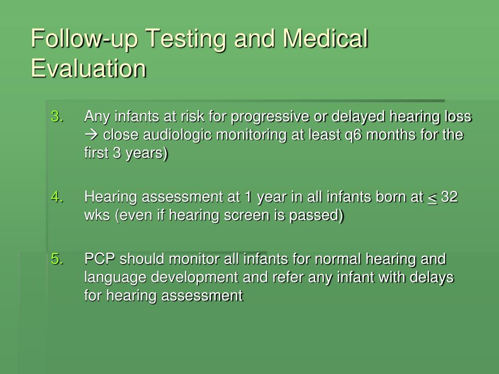 Follow-up Testing and Medical Evaluation