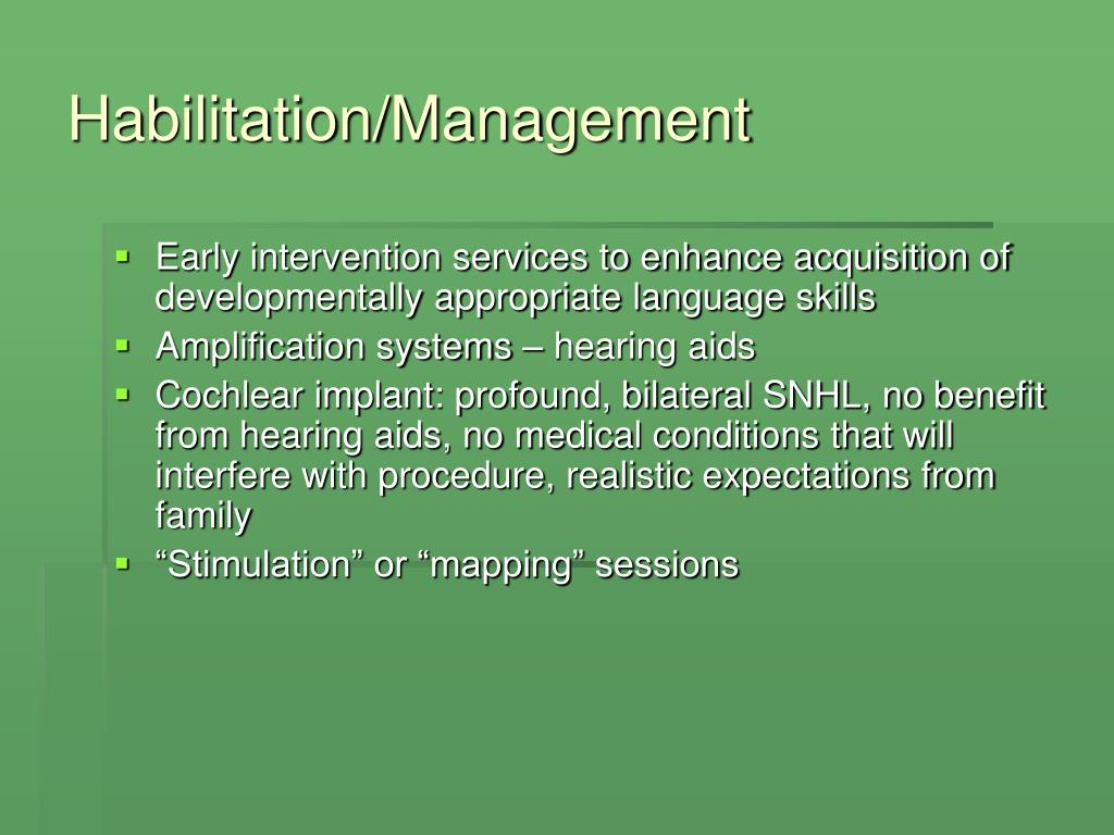 Habilitation/Management