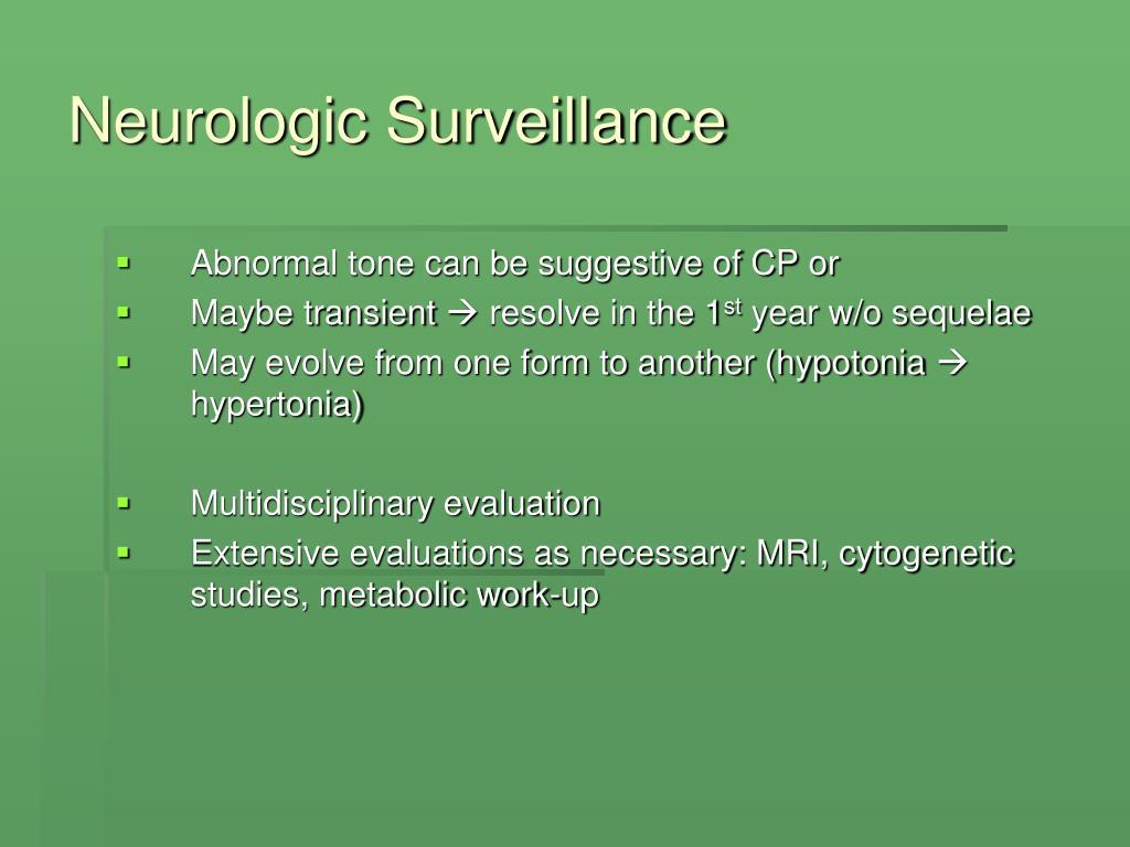 Neurologic Surveillance