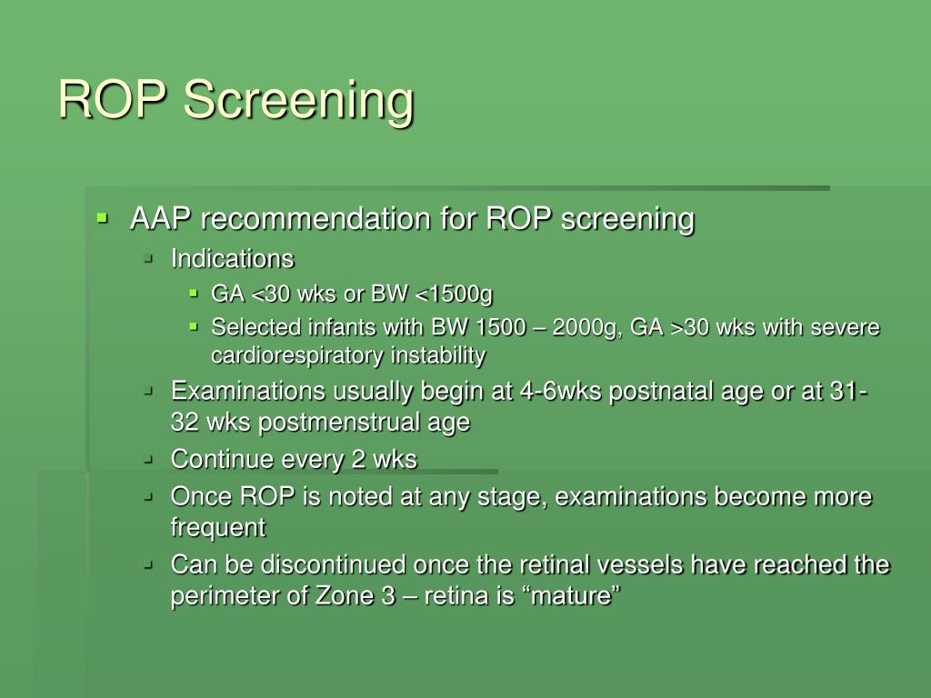 ROP Screening