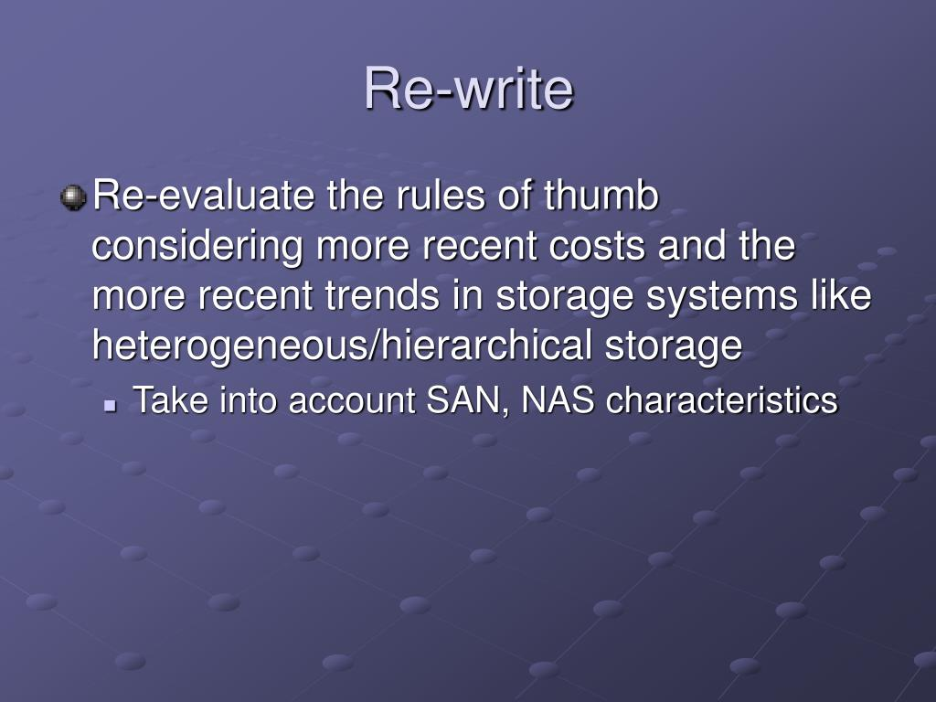 Re-write