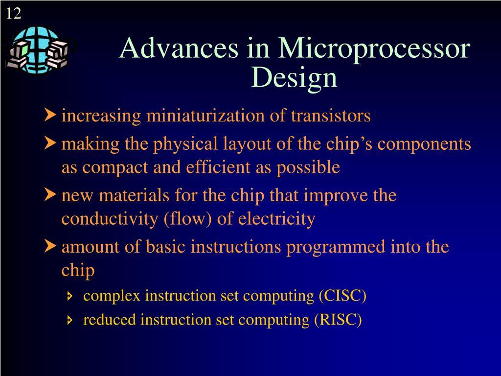 Advances in Microprocessor Design