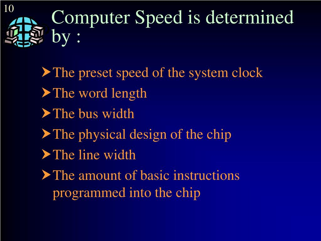 Computer Speed is determined by :